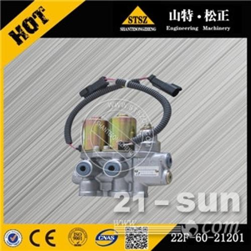 小松现货PC55MR-2电磁阀总成  22F-60-21201