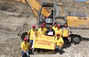 厦工挖掘机同心万里行活动新疆站