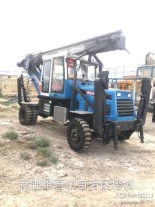 180度小型轮式旋挖钻机顺利抵达新疆中交四航局工作现