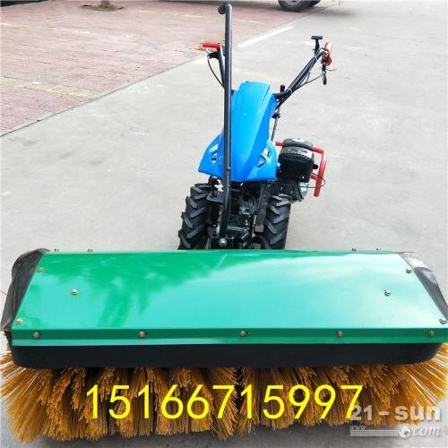 热销大毛刷手推式扫雪机 型号齐全方便