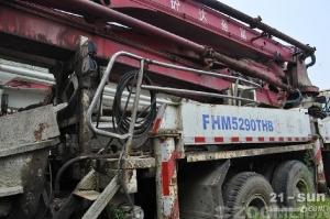 雷沃重工FHM5290THB-37二手混凝土泵车