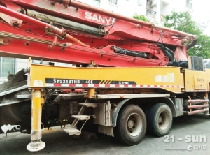 三一40米泵车二手混凝土泵车