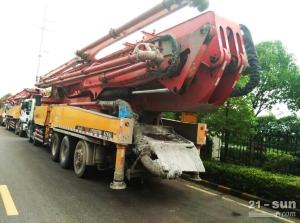 三一62米二手混凝土泵车