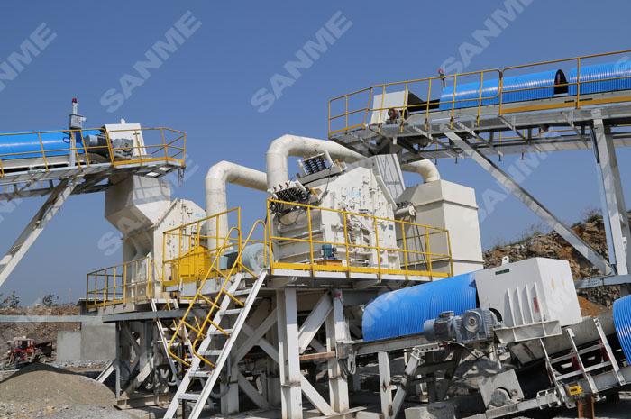 拉法基年产300万吨石灰岩制砂生产线