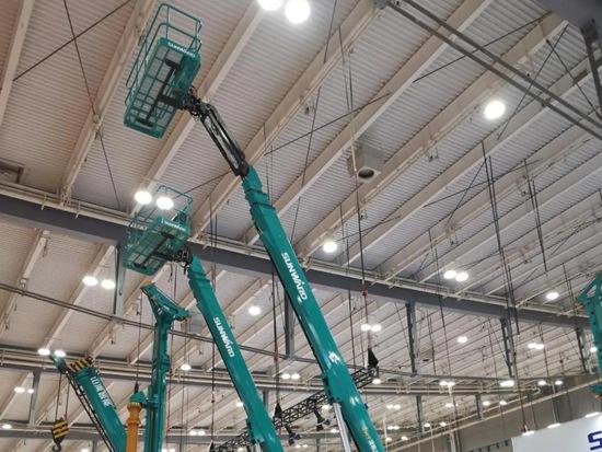 山河智能直臂式高空作业平台亮相 成为全系列高空设备供应商