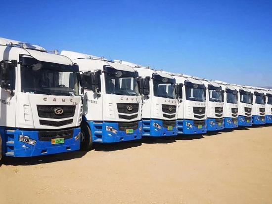 引领绿色运输 20台华菱汉马纯电动牵引车再交付唐山客户