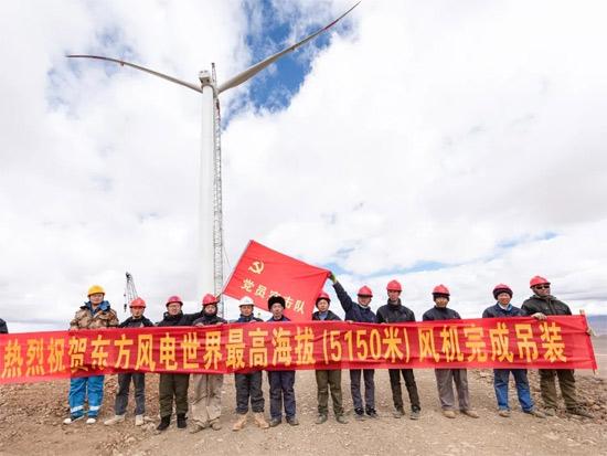 青藏高原5150米!最高海拔风电吊装!中联重科起重机再创新纪录