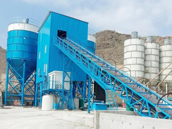 方圆2HZS120搅拌站投入巴基斯坦水电项目建设