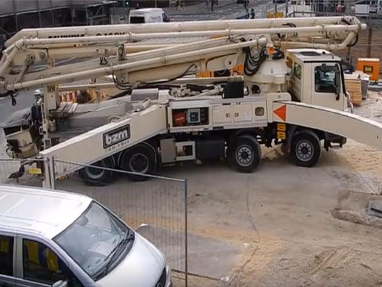 施维英S46SX混凝土泵车工作