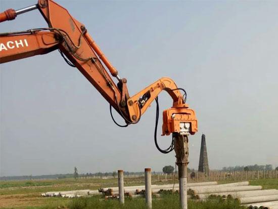 挖机液压打桩机的四个标准操作步骤