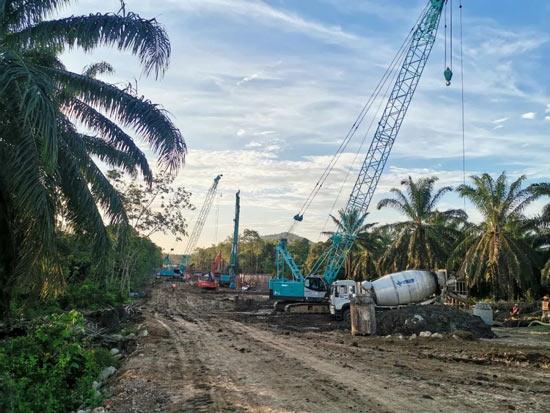 """山河智能""""疫""""势增长!马来西亚东海岸铁路(ECRL)桩基项目进入建设高峰期"""