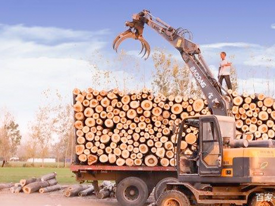 轮式挖掘机抓木机·只谈效率不讲武德