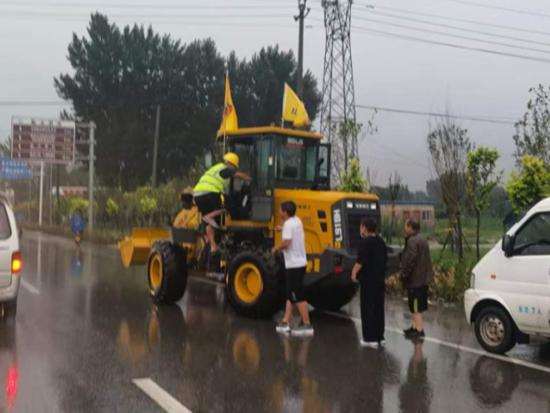 洪水无情,工程机械鏖战救援一线!风雨面前我们一起扛!
