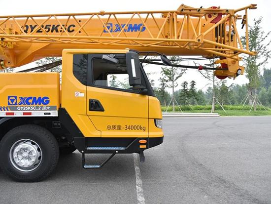 徐工新产品QY25K5C_2吊车来了,除了44米的主臂,还有三大升级!