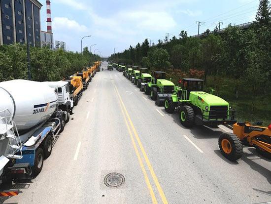 硬核实力!柳工大批量电动装载机、混凝土设备助力陕西绿色高质量发展