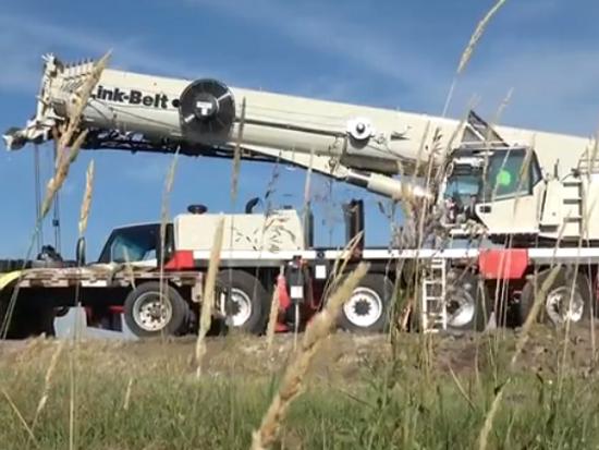 林克贝特 Link-Belt 175 AT 起重机在印第安纳州