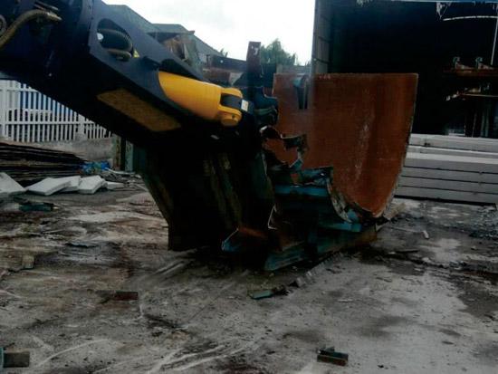 东营剪钢筋的机械施工现场