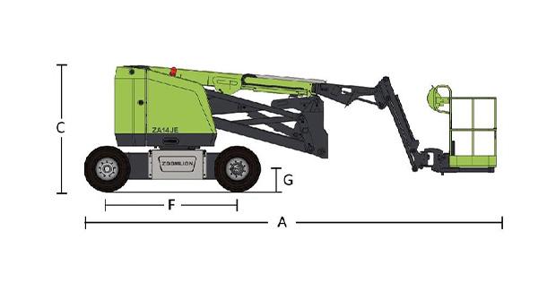 中联重科电动曲臂式高空作业平台ZA14JE