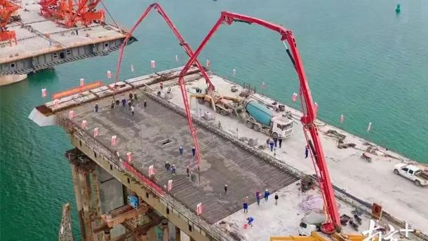 長龍出海!三一混凝土設備助力廣東調順跨海大橋建設