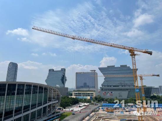 虎霸T8042-26t塔机助力广交会展馆四期扩建项目