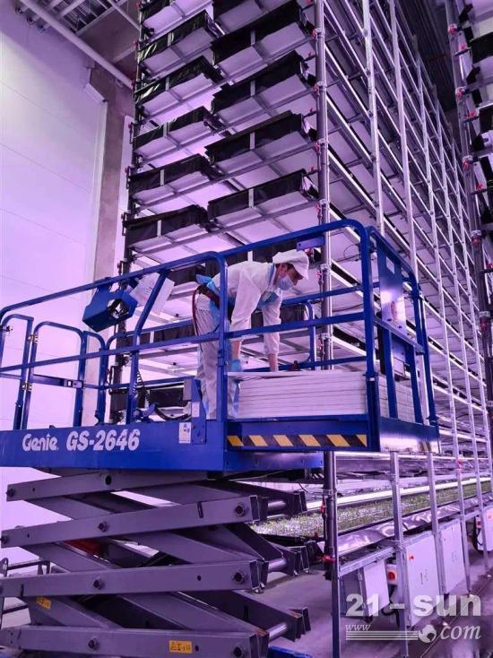 应用   Genie剪叉式高空作业平台在丹麦垂直农场的应用