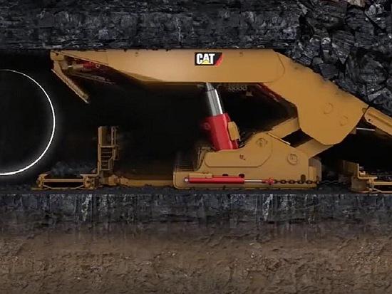 地下采煤机工作过程