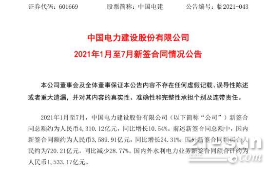 中國電建大爆發:狂攬4310億超級大單!