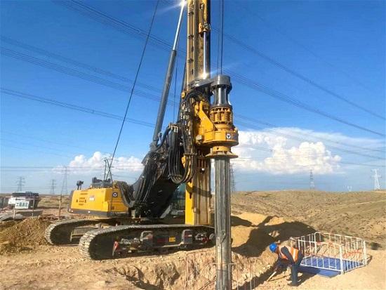 铁路项目桩基建设中少不了旋挖钻机