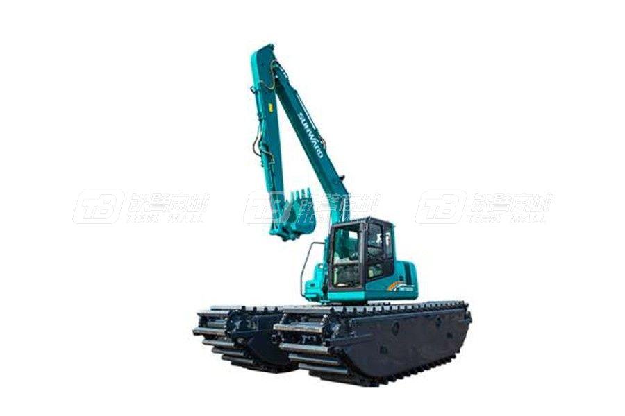 為什么大家都買山河智能濕地挖掘機SWE300SD