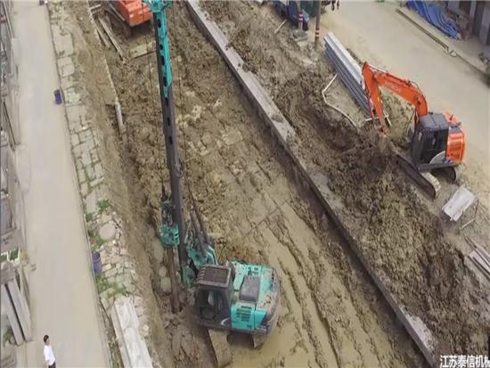 KR80K旋挖钻机浙江嘉兴污水治理工程