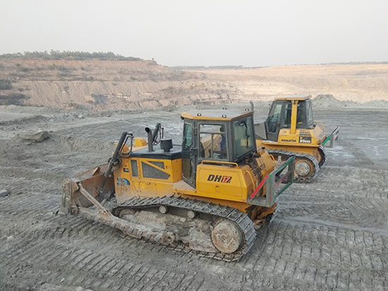 山推设备海外施工助力印度某大型露天煤矿