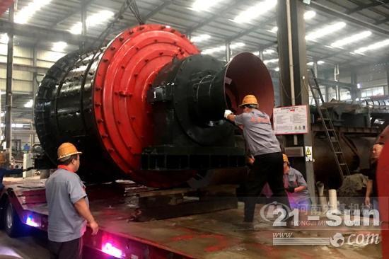 宏基球磨机生产线发往内蒙满州里