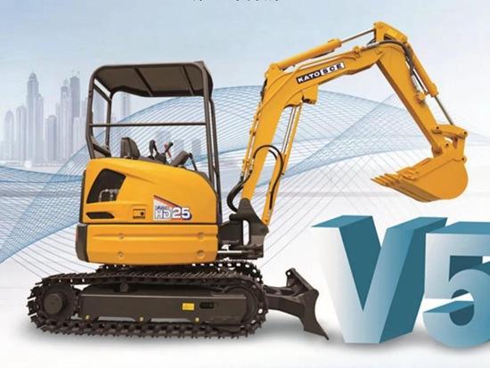 加滕将推出第五代微挖HD25V5