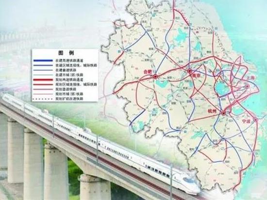 """今年长三角铁路基建投资预计750亿元以上 """"十四五""""期间达1万亿元"""