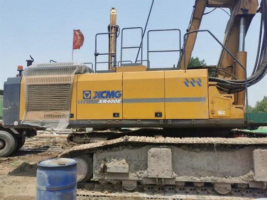 徐工XR400E旋挖钻机助力南京地铁6号线咬合桩施工