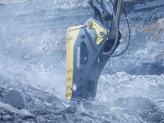 广西建材厂生产线安装固定式液压破碎锤