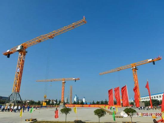 【产品风采】方圆塔机在烟台市工程建设行业吊装职业技能竞赛上放异彩
