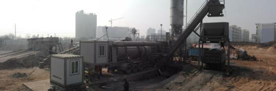 陕西揽胜——南方路机YLLB100移动连续式沥青混合料搅拌设备的应用