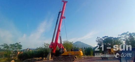 玉柴YCR280D旋挖钻机参建余温公路临海段工程