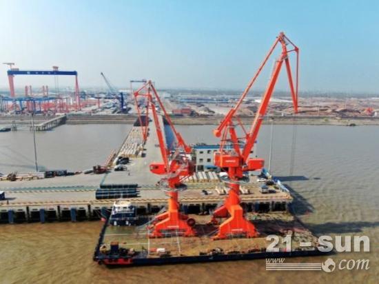 润邦重机成功中标1台门座机和4台卸船机项目订单
