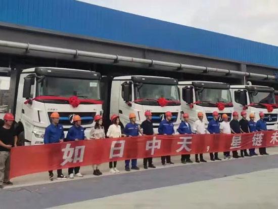 北奔新能源重卡批量交付江苏钢铁客户 助力绿色工厂建设