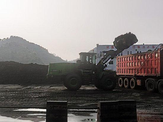 LE56-X纯电装载机贵州某电厂作业