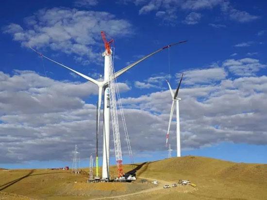 全球最高海拔风电场机组吊装完成,长沙工程机械成功助力