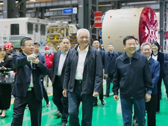 科技部党组书记、部长王志刚调研铁建重工