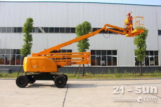 GTZZ20A三节臂高空作业平台的应用